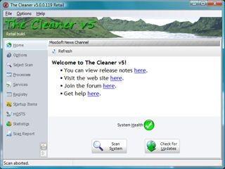 The Cleaner 5.0.0.132 screenshot