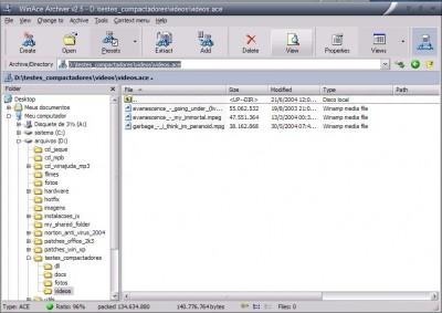 WinAce 2.69 screenshot