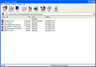 WinRAR 3.71 Final screenshot