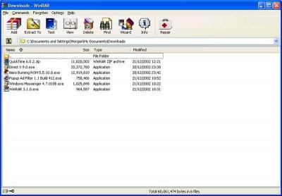 WinRAR 3.71 Final screenshot